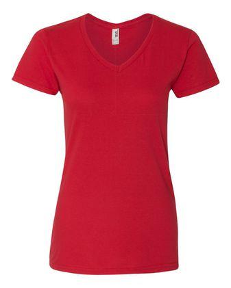 Anvil Women\'s Lightweight V-Neck T-Shirt 88VL