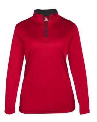 Badger Women\'s B-Core Quarter-Zip Pullover 4103