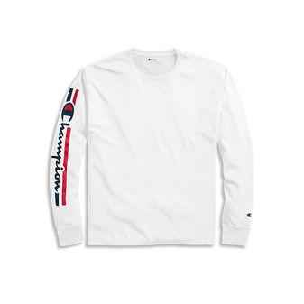 Champion Men\'s Classic Jersey Long-Sleeve Tee, Vertical Logo GT78H Y07980