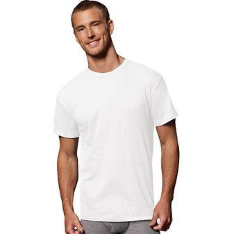 Hanes Men\'s Fresh IQ Cotton/Modal Crew Neck Undershirt 2135M1