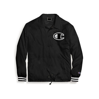 Champion Life Men\'s Satin Coaches Jacket, Big C Logo V5089 549973