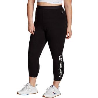 Champion Women\'s Plus Authentic 7/8 Leggings, Vertical Shadow Logo QM523G 550248