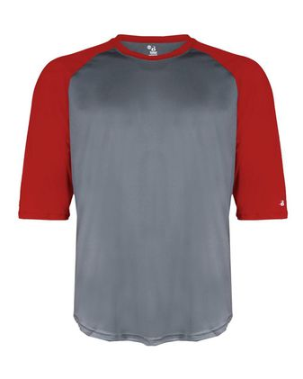 Badger Youth B-Core 3/4 Sleeve Baseball T-Shirt 2133