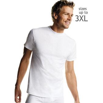 Hanes Men\'s White TAGLESS® Crewneck Undershirt 5-Pack 2135P5