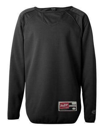 Rawlings Long Sleeve Flatback Mesh Fleece Pullover 6705