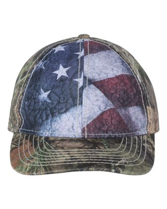 Outdoor Cap Camo Cap with Flag Sublimated Front Panels SUS100