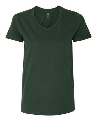 Hanes Women\'s Tagless V-Neck T-Shirt 5780