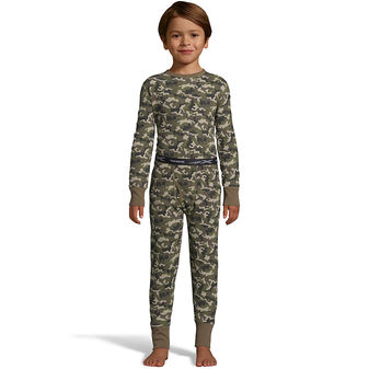 Hanes Boys\' Waffle Knit Thermal Camo Set 125450