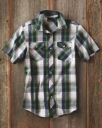 Burnside Short Sleeve Plaid Shirt 9202