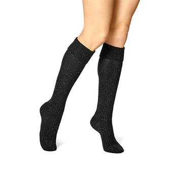 HUE Cuffed Waffle Tweed Knee Sock U18385