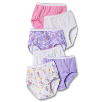 Hanes TAGLESS® Toddler Girls\' Cotton Briefs 6-Pack TP30AS