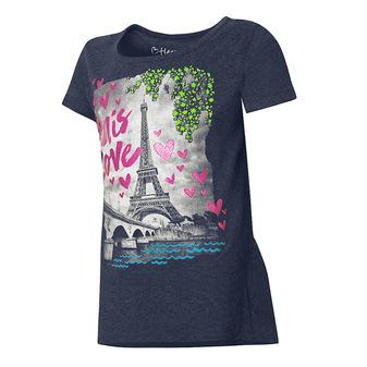 Hanes Girls Tweet Text Peplum Tee Shirt K295
