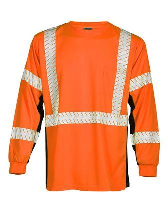 Kishigo Premium Black Series® Long Sleeve T-Shirt 9134-9135
