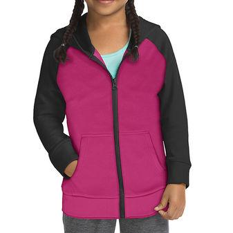 Hanes Sport Girls\' Tech Fleece Full Zip Hoodie OK382