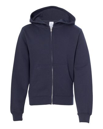 Independent Trading Co. Youth Midweight Full-Zip Hooded Sweatshirt SS4001YZ