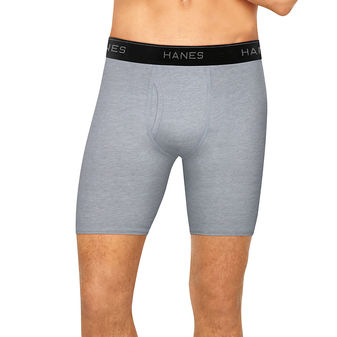 Hanes Men\'s Stretch Longer Leg Boxer Briefs With Comfort Flex® Waistband 4-Pack STLLA4
