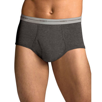 Hanes Men\'s TAGLESS® ComfortSoft® Full Rise Dyed Brief with Comfort Flex® Waistband 6-Pack 7822P6