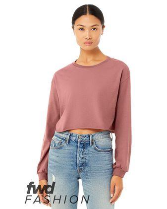 BELLA + CANVAS Fashion Women\'s Cropped Long Sleeve Tee 6501