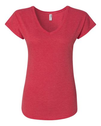Anvil Women\'s Triblend V-Neck T-Shirt 6750VL