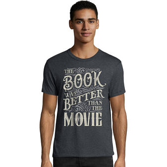 Hanes Men\'s The Book Was Better Than The Movie Graphic Tee GT49 Y07534