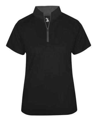 Badger Women\'s B-Core Quarter-Zip T-Shirt 4137