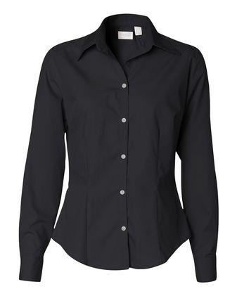 Van Heusen Women\'s Silky Poplin Shirt 13V0114