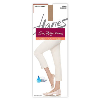 Hanes Silk Reflections Sheer Liners 6-Pack Q00722