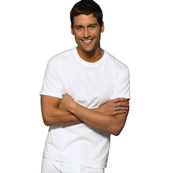 Hanes Classic Mens White Crew Neck T-Shirt P6 7870W6