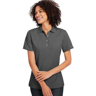 Hanes Women\'s X-Temp w/Fresh IQ Pique Polo Shirt 035P