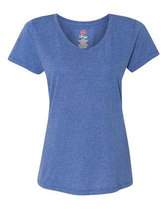 Hanes Women\'s Premium Triblend V-Neck Short Sleeve T-Shirt 42VT