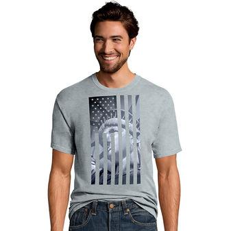 Hanes Men\'s Liberty Flag Graphic Tee GT49 Y06044