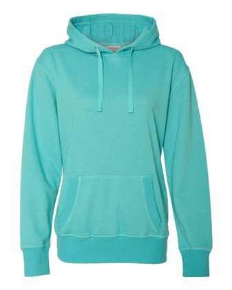 J. America Women\'s Glitter French Terry Hooded Sweatshirt 8860