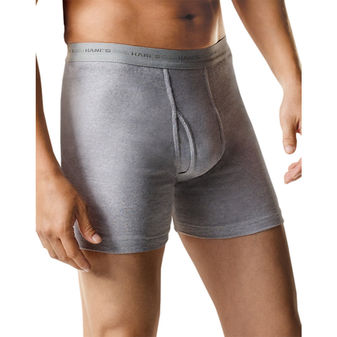 Hanes Men\'s Boxer Brief with Comfort Flex® Waistband Black/Grey Assorted 7-Pack 2349B7