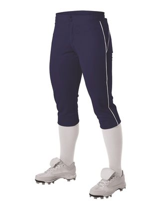Alleson Athletic Women\'s Belted Piped Fastpitch Pants A00061