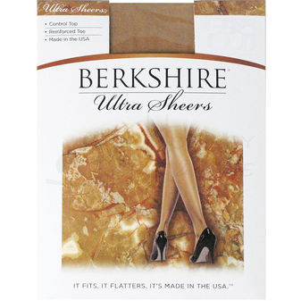 Berkshire Women\'s Ultra Sheer Control Top Pantyhose - Reinforced Toe 4419