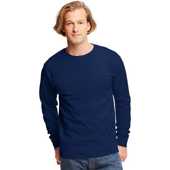 Hanes TAGLESS Long-Sleeve T-Shirt 5586