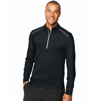 Hanes Sport™ Men\'s Performance Quarter-Zip Sweatshirt O5A09