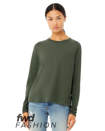 BELLA + CANVAS Fashion Women\'s Side Slit Long Sleeve Tee 8450