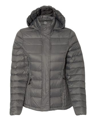 Weatherproof 32 Degrees Women\'s Hooded Packable Down Jacket 17602W