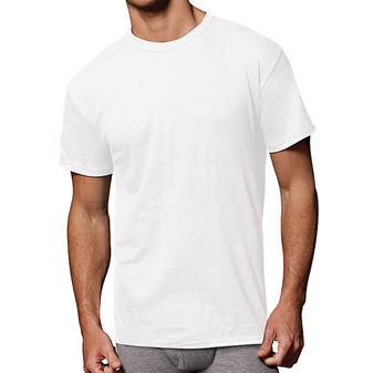 Hanes Men\'s Fresh IQ Cotton/Modal Crew Neck Undershirt 3-Pack 2135M3