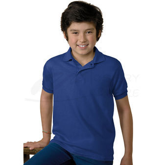 Hanes Kids Cotton-Blend Jersey Polo 054Y