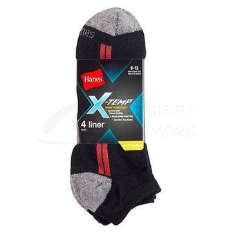 Hanes Mens X-Temp Arch Support Liner Socks 4-Pk 510/4