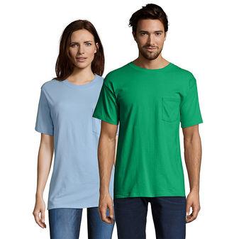 Hanes Beefy-T Adult Pocket T-Shirt Sty# 5190