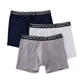 Jockey Men\'s Underwear Active Microfiber Boxer Brief - 3 Pack 9411 9121