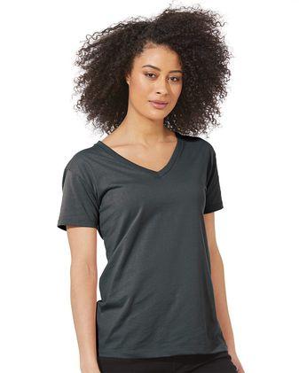 Next Level Women\'s Fine Jersey Relaxed V T-Shirt 3940