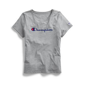 Champion Women\'s Classic Tee, Script Logo