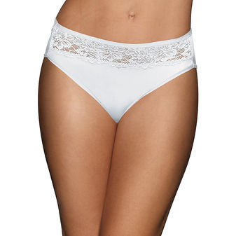 Bali One Smooth U Comfort Indulgence Satin with Lace Hi Cut Panty 2848