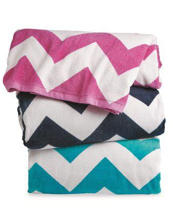 Carmel Towel Company Chevron Velour Beach Towel C3060X