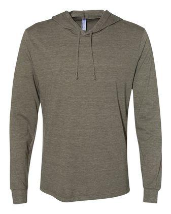 American Apparel Unisex Triblend Long Sleeve Hooded T-Shirt RSATR436W