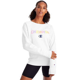 Champion Powerblend Boyfriend Crew. Color Pop Logo GF567 Y08089